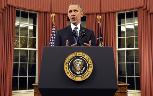The president addresses the nation from the Oval Office about ISIS and his strategy to defeat terrorism after the San Bernardino shootings on Dec. 6, 2016. (AP)