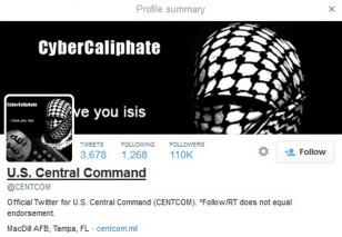 A computer screenshot shows the U.S. Central Command Twitter feed after it was apparently hacked by people claiming to be Islamic State sympathizers on Jan. 12, 2015. (Reuters)