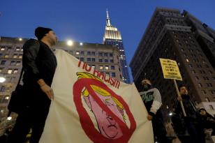 Anti-Trump protest in New York City. Dec. 20, 2015 (Reuters)