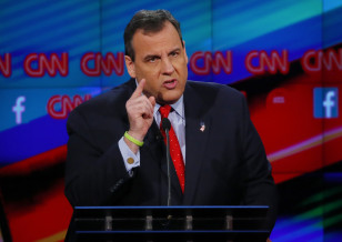 Republican presidential candidate New Jersey Governor Chris Christie speaks during the Republican presidential debate in Las Vegas on Dec. 15, 2015. (Reuters)
