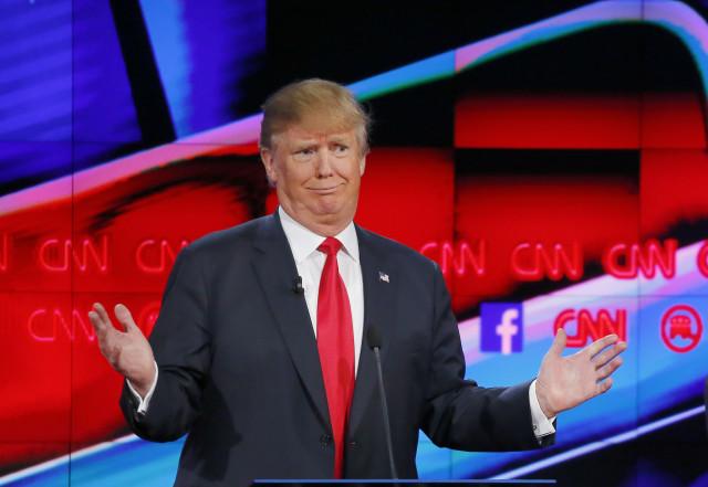 Republican presidential candidate Donald Trump speaks during the Republican presidential debate in Las Vegas on Dec. 15, 2015. (AP)