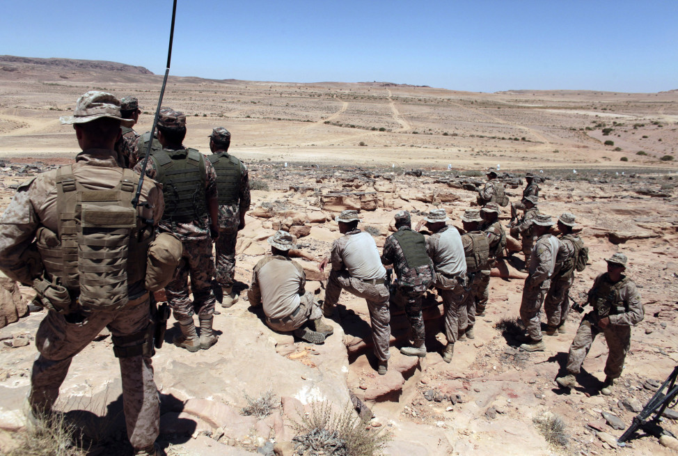 U.S. Marines monitor military maneuvers in southern Jordan in this 2013 file photo. (AP)