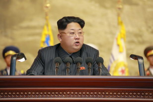North Korean leader Kim Jong Un speaks at a veteran's conference iin this undated photo released by North Korea's state news agency on July 26, 2015.(Reuters)