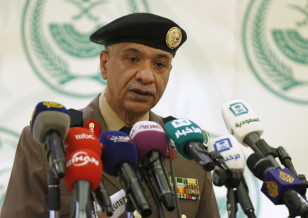 Major General Mansour Al-Turki, a security spokesman from the Saudi Arabian interior ministry, speaks to the press about the executions of 47 people in Riyadh, Saudi Arabia on Jan. 2, 2016. (Reuters)