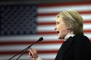Democratic presidential candidate Hillary Clinton speaks at a campaign rally on  Feb. 9, 2016 in Hooksett, N.H. (AP)