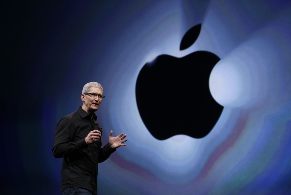 Apple CEO Tim Cook speaks during an introduction of the new iPhone 5 in San Francisco on Sept. 12, 2012.(AP/file)