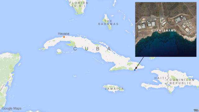 Guantanamo map