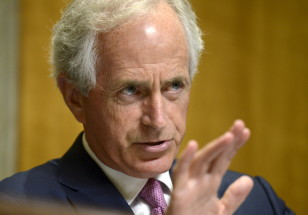 Senator Bob Corker (R-TN), chairman of the Senate Foreign Relations Committee, makes remarks at a hearing on Capitol Hill on July 16, 2015. (Reuters)