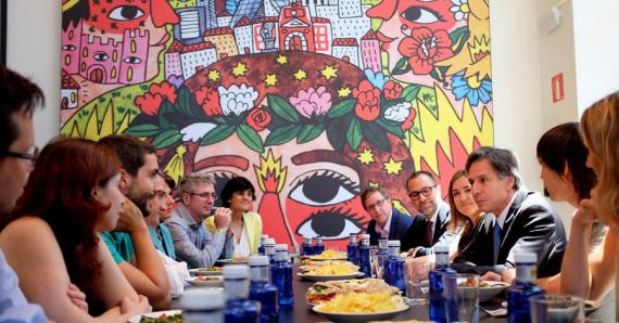 Deputy Secretary Blinken meeting with Spanish entrepreneurs at Google Campus in Madrid, Spain in August 2015. (photo courtesy of the State Department)
