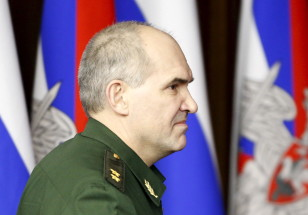 Chief of the Russian Armed Forces Lieutenant General Sergei Rudskoi attends a news briefing in Moscow on Feb. 27, 2016. (Reuters)