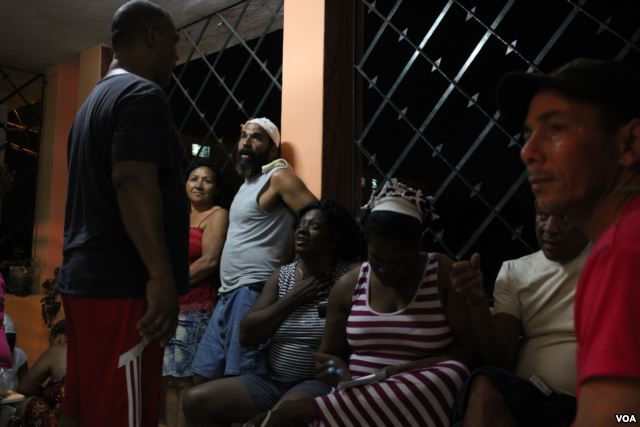 Berta Soler (center), leader of The Ladies in White, a Cuban opposition group, prior to her detention by Cuban authorities on March 20, 2016, hours before President Barack Obama arrived in Havana.