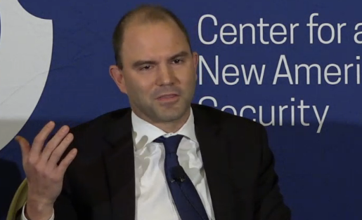 Ben Rhodes speaking at an event at the Center for a New American Security May 17, 2016 (Screen shot)