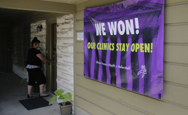 A woman enters Choice Clinic, formerly Whole Woman's Health Clinic, Monday, June 27, 2016, in Austin, Texas. Abortion providers celebrating the U.S. Supreme Court striking down major Texas abortion restrictions Monday also begrudgingly acknowledged a daunting reality: The damage is done, and no time soon are women likely to see new clinics start replacing dozens that have folded since 2013. (AP)