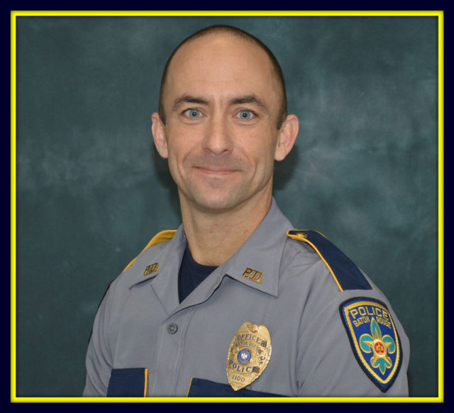 This undated photo made available by the Baton Rouge Police Dept. shows police officer Matthew Gerald. Gerald, 41, was killed by a gunman in Baton Rouge, LA., Sunday, July 17, 2016. (Baton Rouge Police Dept. via AP)