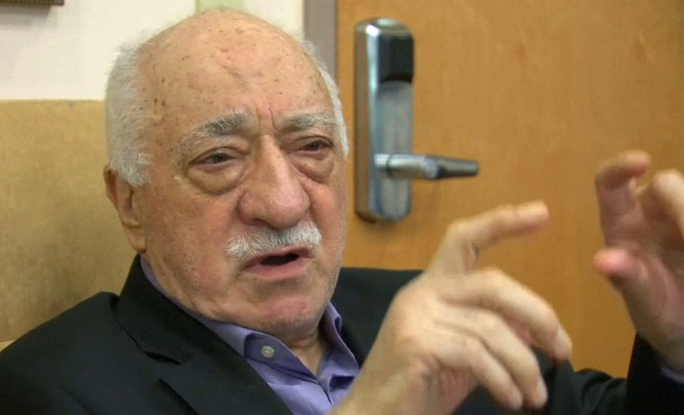 U.S.-based cleric Fethullah Gulen, whose followers Turkey blames for a failed coup, is shown in still image taken from video, speaks to journalists at his home in Saylorsburg, Pennsylvania July 16, 2016. Gulen said democracy cannot be achieved through military action.  (Reuters)