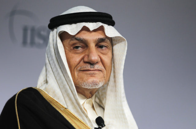 FILE - Former Head of Saudi intelligence Prince Turki Al Faisal Al Saud attends a close session meeting at the IISS Regional Security Summit in Manama, Bahrain December 8, 2013. ( REUTERS)