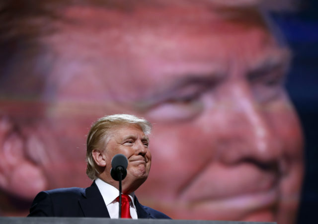 Republican Presidential Candidate Donald Trump, speaks during the final day of the Republican National Convention in Cleveland, Thursday, July 21, 2016. (AP)