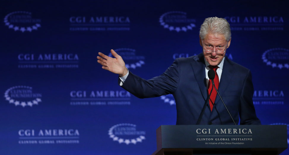 FILE - In this June 10, 2015 file photo, former U.S. President Bill Clinton speaks at annual gathering of the Clinton Global Initiative America, which is a part of The Clinton Foundation, in Denver. (AP)