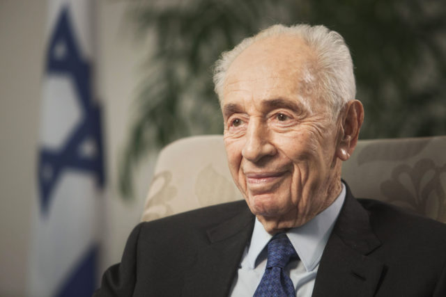 In this Nov. 2, 2015 file photo, former Israeli President Shimon Peres speaks during an interview with The Associated Press in Jerusalem. Former Israeli President Shimon Peres suffered a stroke on Tuesday and died Wednesday Sept. 28. (AP)