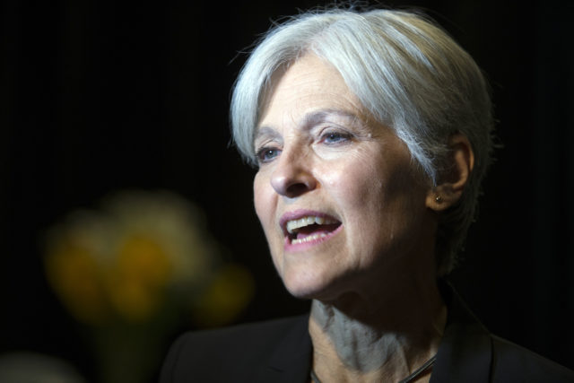 In this Oct. 6, 2016, photo, Green Party presidential candidate Jill Stein meets her supporters during a campaign stop at Humanist Hall in Oakland, Calif. Stein is leading the effort for an election recount in Wisconsin, Michigan and Pennsylvania. (AP)