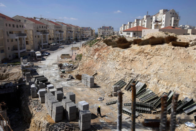This March 14, 2011 file photo, shows a general view of a construction site in the West Bank Jewish settlement of Modiin Illit. (AP)