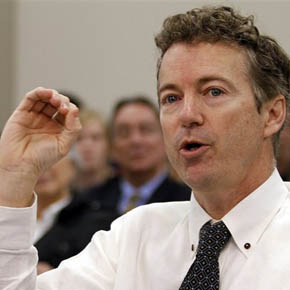 Senator Rand Paul, pictured here during a speech in Frbruary, was the surprise highlight during a recent conference of Republican party conservatives. Photo: AP