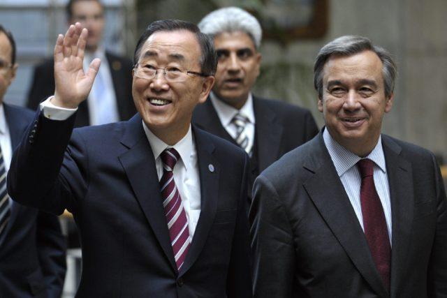 Pan Gi Mun va Antonio Guterres