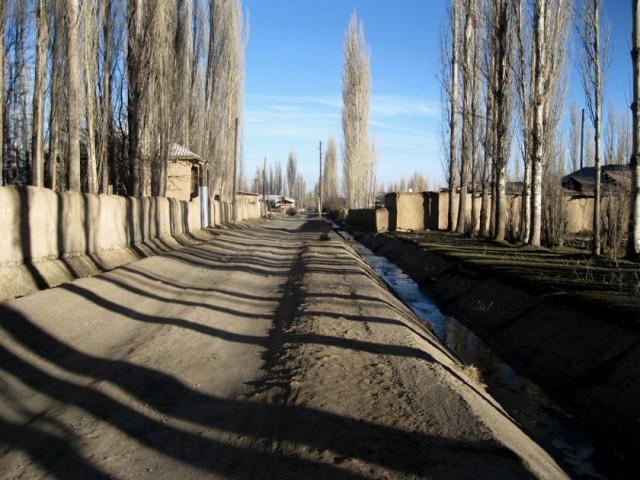 Qishloqni sug'oruvchi kanal