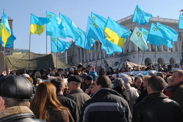 Qrim tatarlarining Rossiya bosqiniga qarshi o'tkazgan norozilik namoyishidan